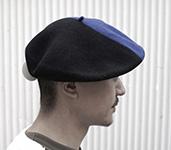 Берет LE BERET FRANCAIS арт. DUO (синий / черный)